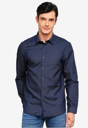 Burton Menswear London 海軍藍色 Navy Frangelo Shirt 3567AAA3A33BA0GS_1