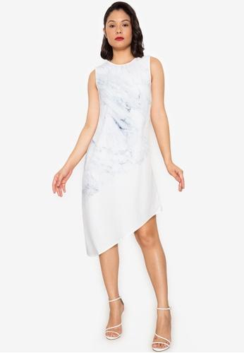 ZALORA WORK multi Asymmetrical Midi Dress 5FF5CAADDC2424GS_1