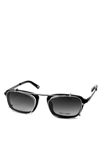 HEX EYEWEAR black Actor - Matt D. - Optical with Clip-on - Italy Design HE671AC2V1KSHK_1