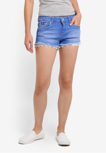 Superdry blue Lace Trim Hot Shorts 60501AA42FCF92GS_1