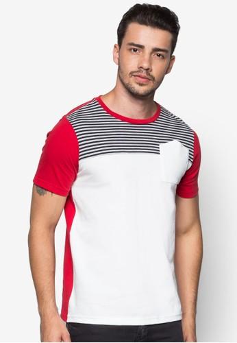 Short Sleeveesprit 眼鏡 Basic Tee, 服飾, 條紋T恤