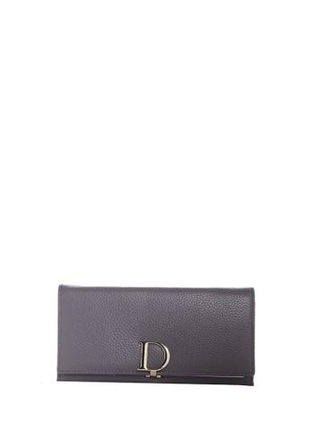Dazz grey Calf Leather D Wallet - Grey DA408AC22JKRMY_1