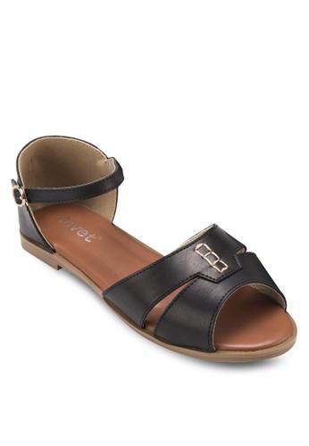 露趾包跟平底涼鞋,esprit女裝 女鞋, 涼鞋