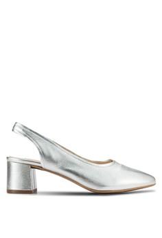 【ZALORA】 Jenna 繞踝粗跟鞋