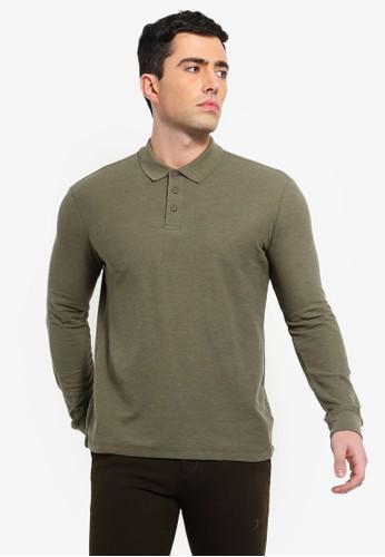 Electro Denim Lab green Long Sleeve Polo Top AF4BDAAF2387FCGS_1