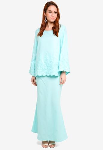 BYN green Baju Kurung Modern 5E257AAACDDC17GS_1