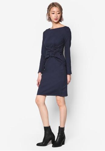 雙扭結長袖洋裝、 服飾、 洋裝Maxqullo雙扭結長袖洋裝最新折價