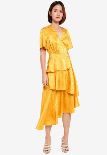 Y.A.S yellow Kimberly Short Sleeve Dress 7E67BAAAD92AD7GS_1