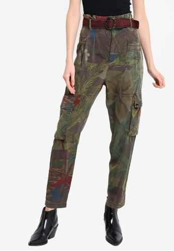 Desigual green and multi Wild You Pants CCCE9AA77D55DEGS_1