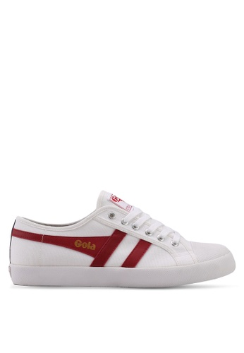 Gola white and red and navy Coaster Trainers 0ED61SHED23AE2GS_1