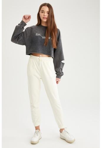 DeFacto grey Woman Knitted Sweat Shirt 29ECFAA5725592GS_1