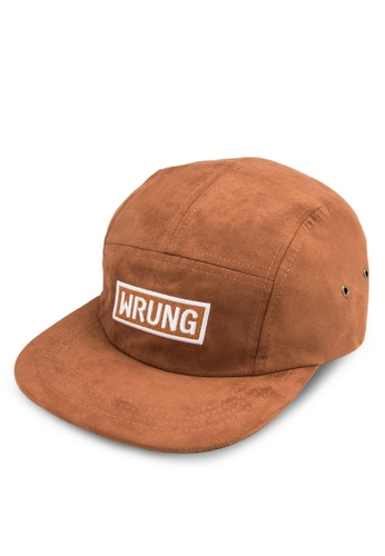 Wrung brown Box Suede Five Panels Cap WR395AC47QIMMY_1