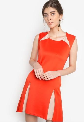 Ensembles orange Pleated Dress EN320AA69DZIPH_1