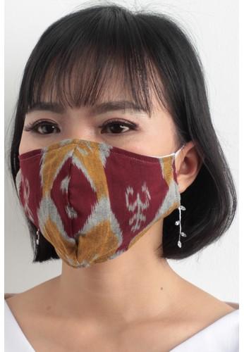 DhieVine Batik red and multi Facemask TENUN IKAT RANDOM SISIK Earloop(3PCS) B86B6ES41C1B61GS_1