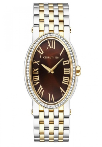 CERRUTI 1881 silver and gold Stainless Steel & IP Rose Gold Bracelet Ladies Watch CE514AC45QOGMY_1