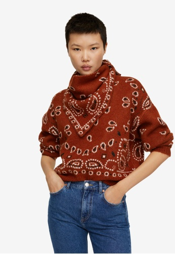 Mango brown Bandana Knit Sweater 411BDAA59FF7DCGS_1