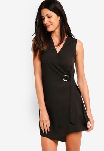 ZALORA black Vest Dress With Oversized Eyelet Detail 638A7AA90A20FBGS_1