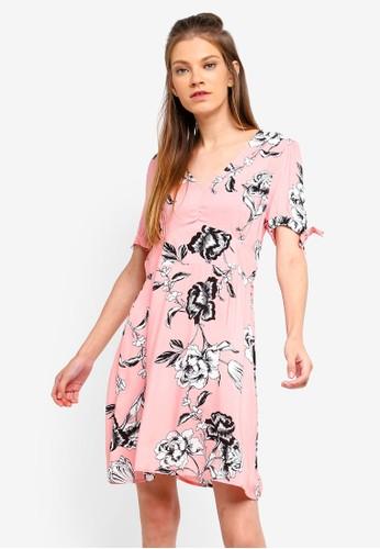 Cotton On pink Woven Spencer Short Sleeve Tea Dress BFA08AA05B7895GS_1