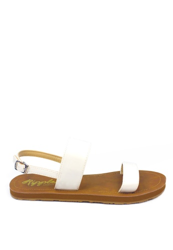 Ripples white Isabel Double Straps Sandals 9ABD5SH1ED6E9FGS_1