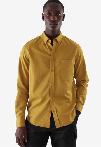 COS yellow Regular-Fit Shirt 940B6AA2742A5CGS_1