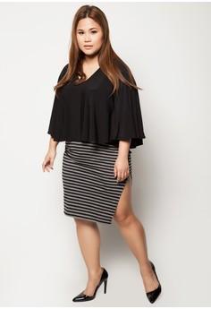 Plus Size Chill Up Midi Slit Skirt