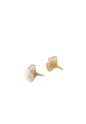 Gung Jewellery gold Clover Petal Stud Earrings in Gold EBB9AAC83E0CB3GS_1