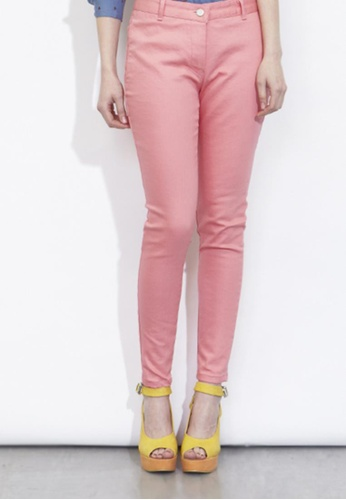 VIK pink Coloured Skinny Jeans VI189AA47XOISG_1
