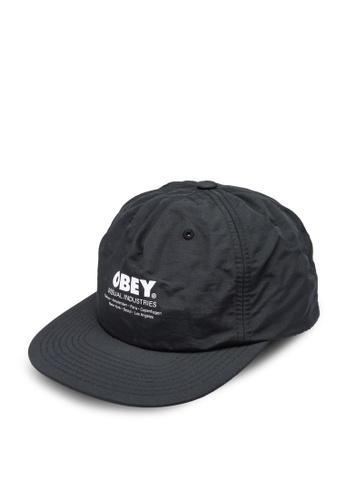 OBEY black Raid Strapback Cap 36F46AC071F42AGS_1