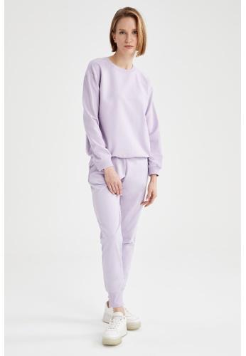 DeFacto purple Jogger Sweatpants 0EBD1AAAF96883GS_1