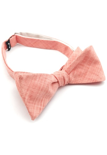 Caveman pink Peach Textured Self-Tied Bowtie E4031AC6EB0BC2GS_1