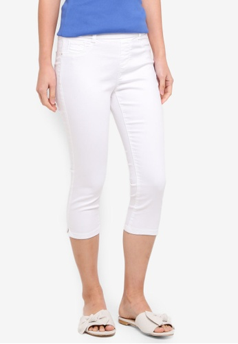 Dorothy Perkins white Petite White Eden Crop Jeans BCDEDAAFF05E50GS_1