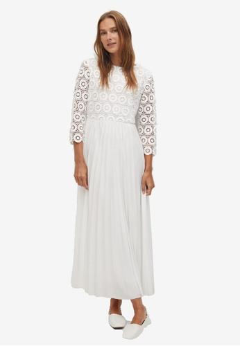 Mango white Guipure Midi Dress BEC72AA6270205GS_1