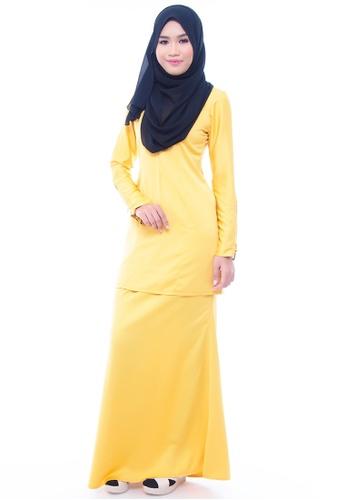 Amar Amran yellow Kurung Qameela lll 0803AAA71F05C3GS_1