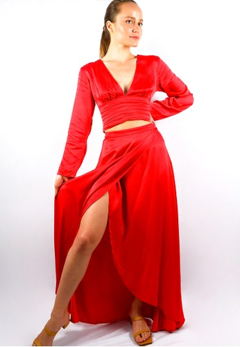 The Ocean Bali red Valerie Dress 8328FAA5AF742AGS_1