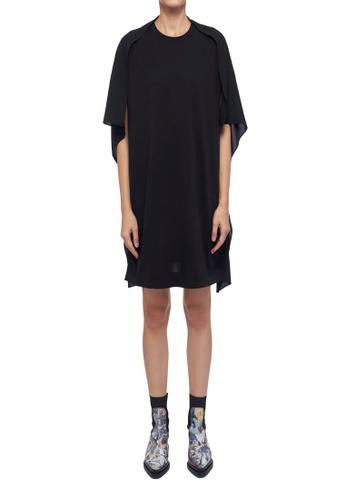 CK CALVIN KLEIN black Classic Cotton With Crepe Satin Dress 1F674AA18D1775GS_1