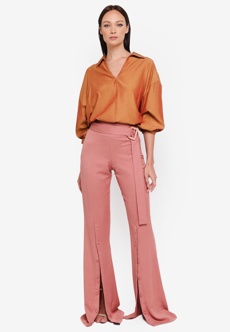 Pink Dusty Button 3thelabel Pants Solange wtqFqIX