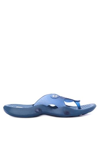 Krooberg blue Viper Slip-On Sandals 09295SH47FAEBEGS_1