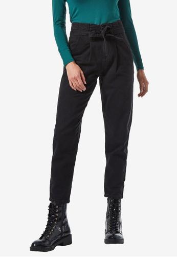 Dorothy Perkins black Black Paperbag Denim Jeans 31A34AA905539FGS_1