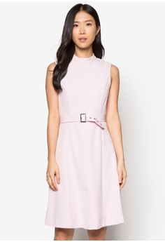 Collection Back Tap Belted Midi Dress