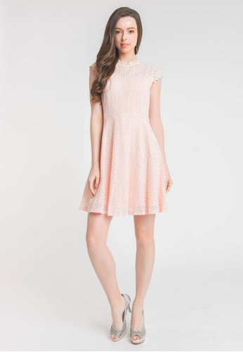 L'zzie pink OHARA DRESS - PINK 771D6AAFFBE680GS_1