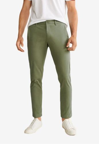 Mango Man 米褐色 Tapered-Fit Cropped 長褲 F6704AAE506CC1GS_1