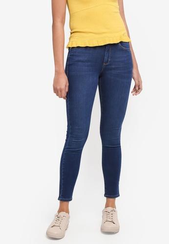 TOPSHOP blue Moto Indigo Leigh Jeans 641B8AAEDD68C3GS_1