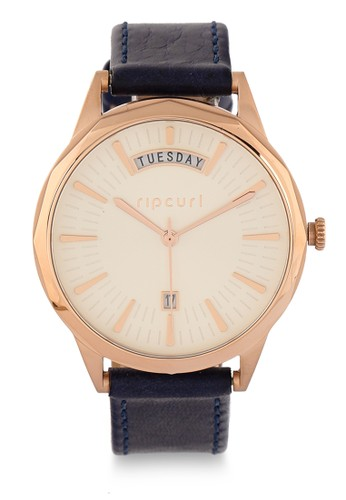 Rip Curl pink Indie Rose Gold Leather Watch CC3BFACE0A0314GS_1