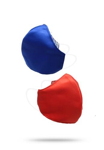 Etoile D'Elfas Stylish Cotton Face Mask Reusable M-125 Blue 3 Pcs F1A11ES35DBA0CGS_1