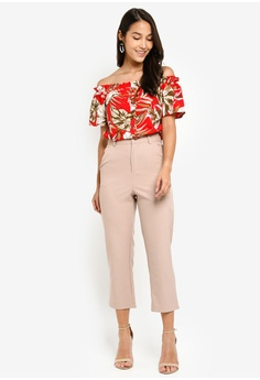ca42610199377 10% OFF Dorothy Perkins Petite Red Tropical Bardot Top RM 149.00 NOW RM  133.90 Available in several sizes