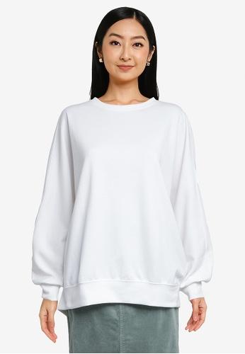 LOWRYS FARM white Oversize Puff Sweatshirt 8F18DAA454B6D2GS_1