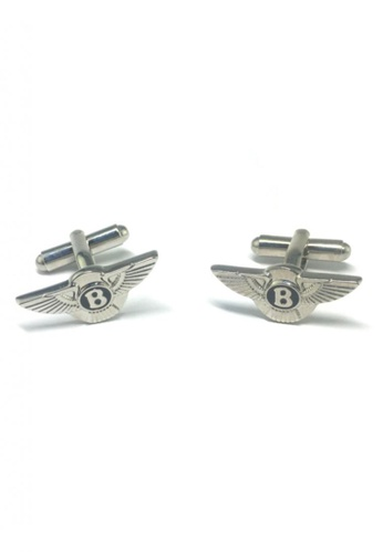 Splice Cufflinks silver Bentley Badge Cufflinks SP744AC44FRZSG_1