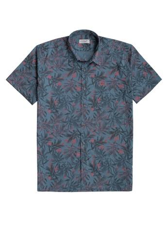 Crocodile green and blue Crocodile KOAL Green Blue - Men Shirt Kemeja Lengan Pendek - Relax Fit 71D80AAB1C34D0GS_1