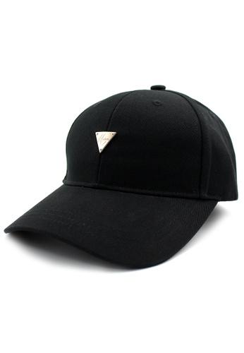 DOSSCAPS black HATER PVC Back Closure Cap (Black) DO290AC70ACFMY_1