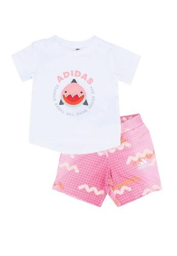 ADIDAS white infants' tee and shorts sports set A2BA8KA5E5002BGS_1